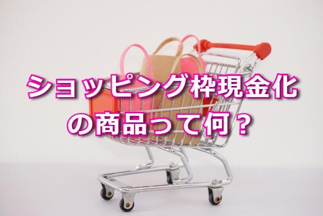 ショッピング枠現金化の商品